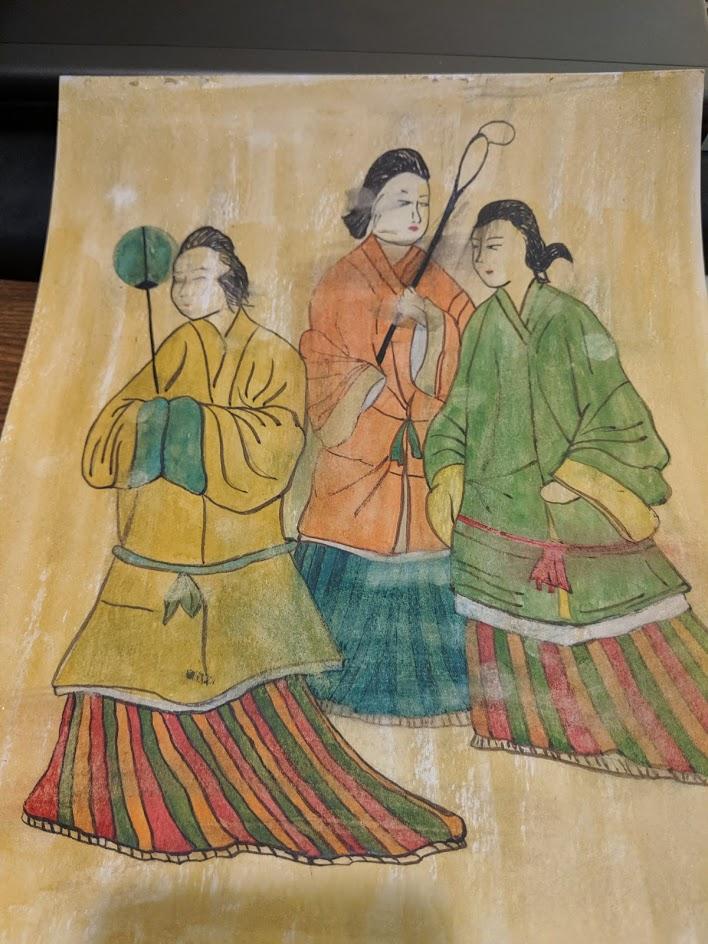 高松塚古坟壁画 一草by Fan Stanbrough