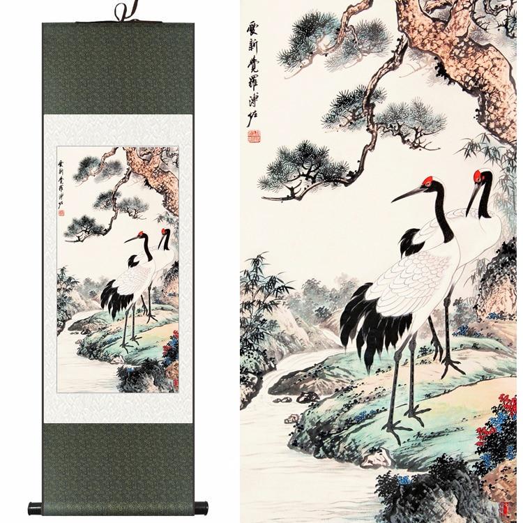 松鹤延年国画 by puyi