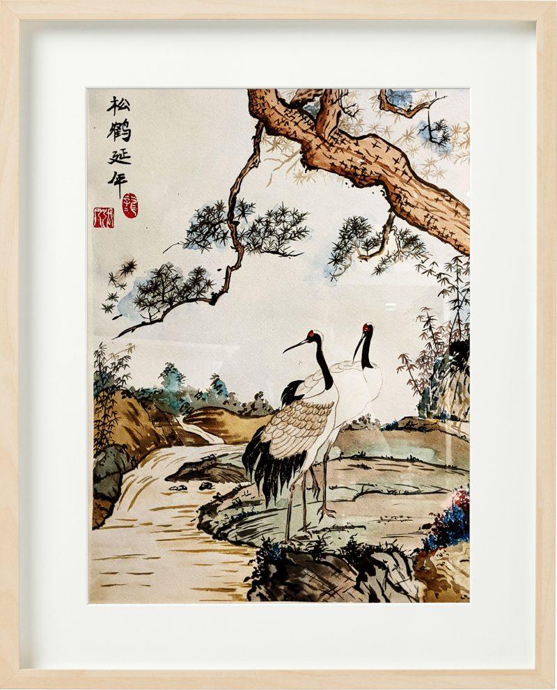 松鹤延年国画 by Fan Stanbrough