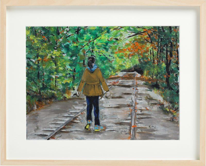 妹妹 - 新英格兰的秋天油画 by Fan Stanbrough