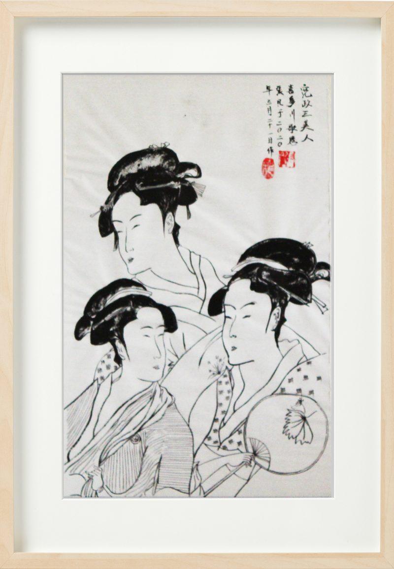 宽政三美女 黑白 by Fan Stanbrough