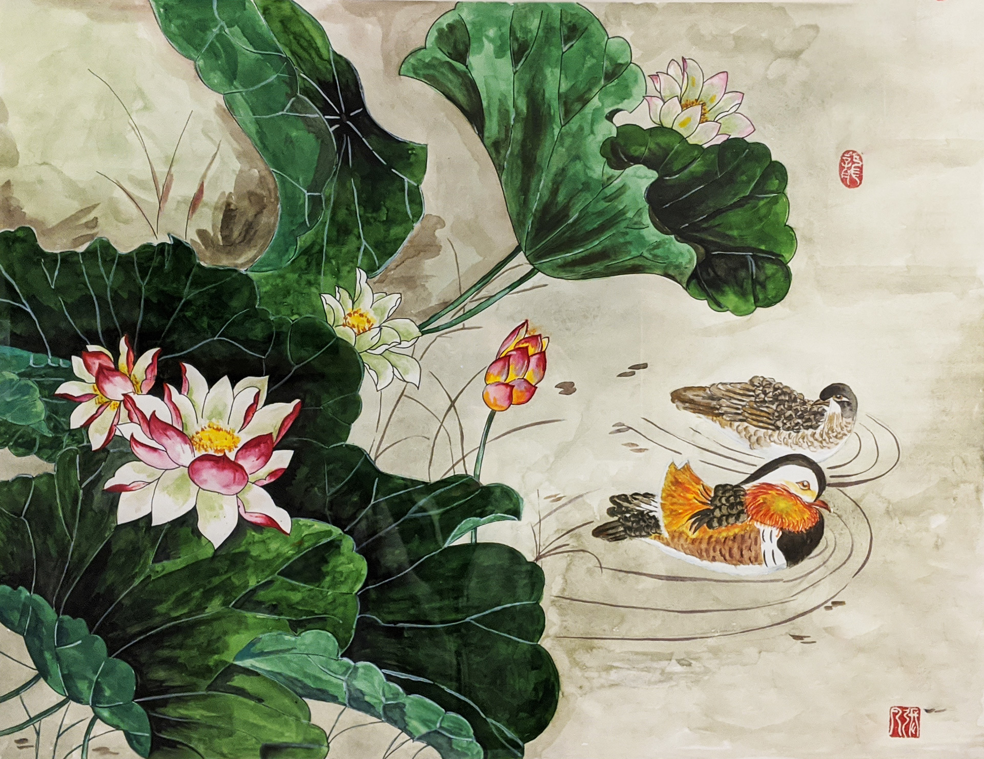 Moonlight over the Lotus Pond by Fan Stanbrough