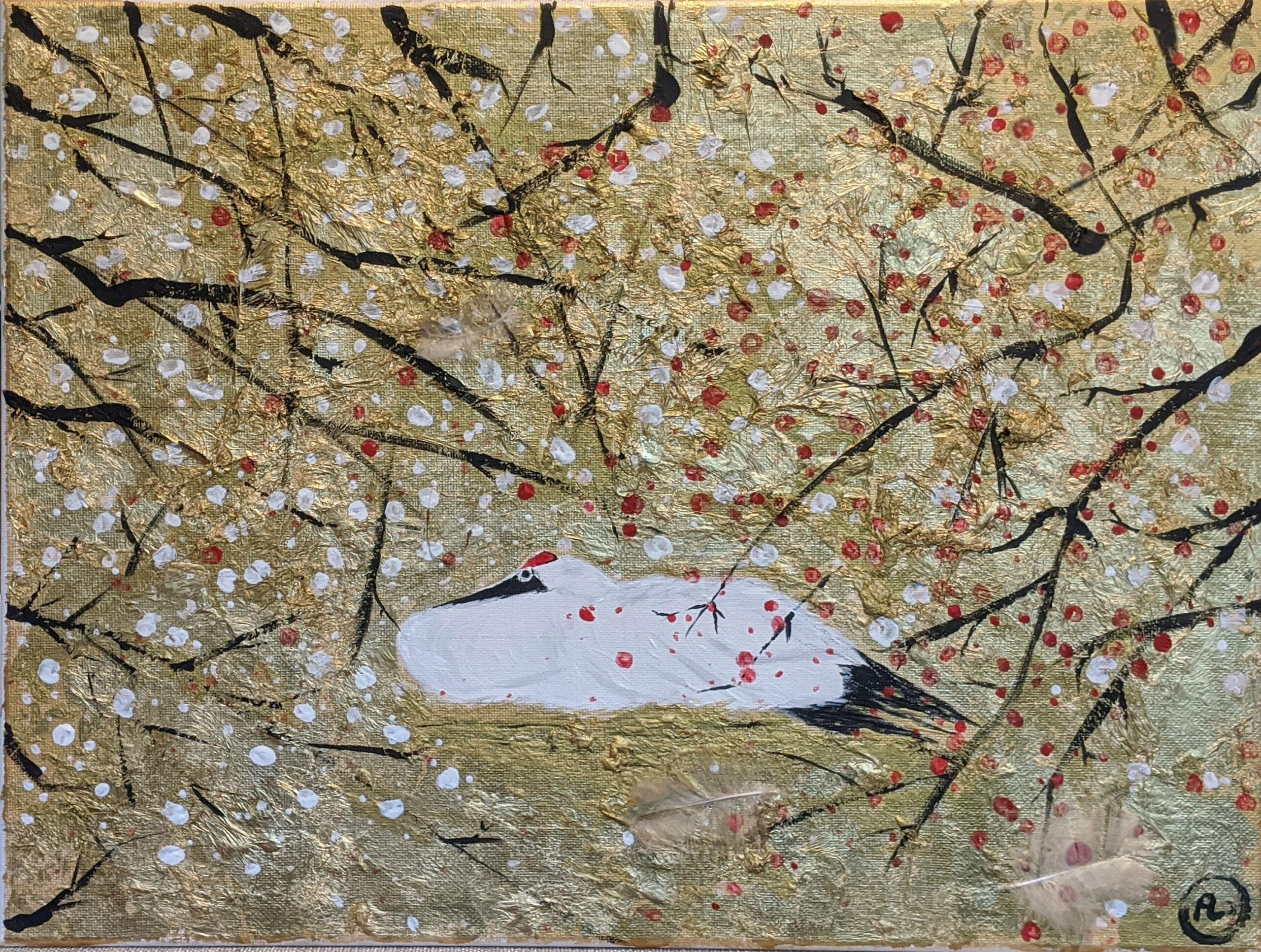 缥缈孤鸿影 Lonely Red Crowned Crane by Fan Stanbrough