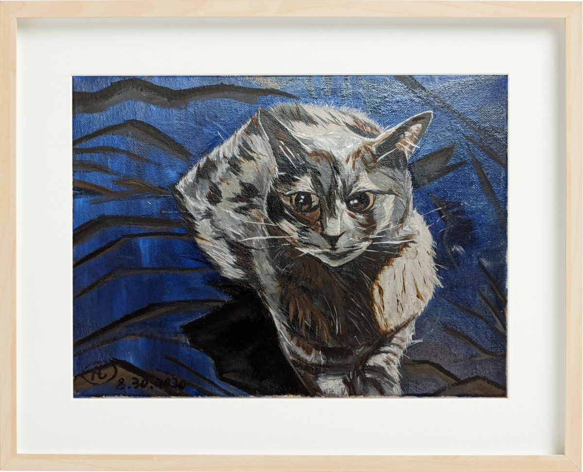 """""""Xiao Kitty"""" Cat Oil Painting By Fan Stanbrough"""