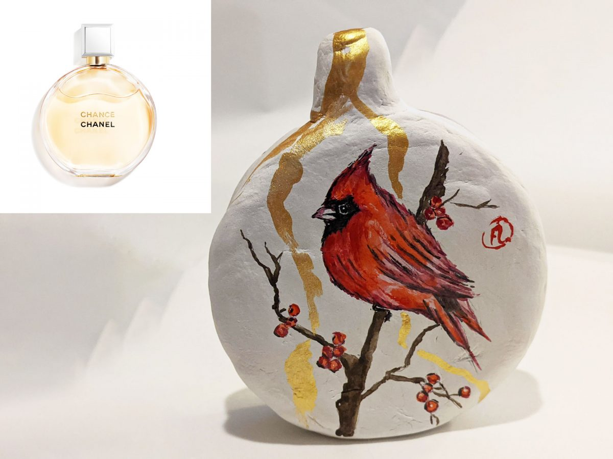 Chanel Chance Limited Edition Red Cardinal Painting by Fan Stanbrough