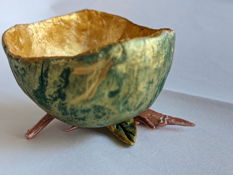 Green Pinch Pot by Fan Stanbrough