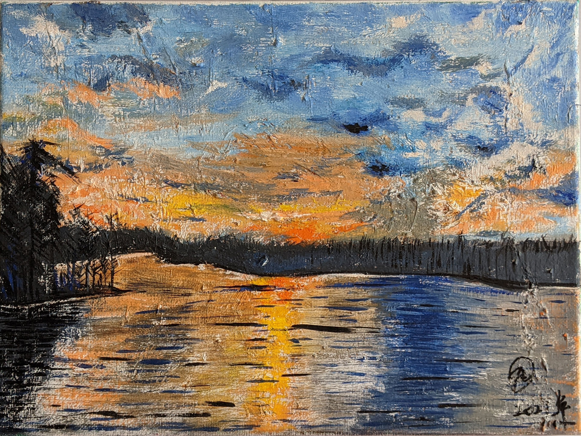 Ashland State Park oil painting by Fan Stanbrough