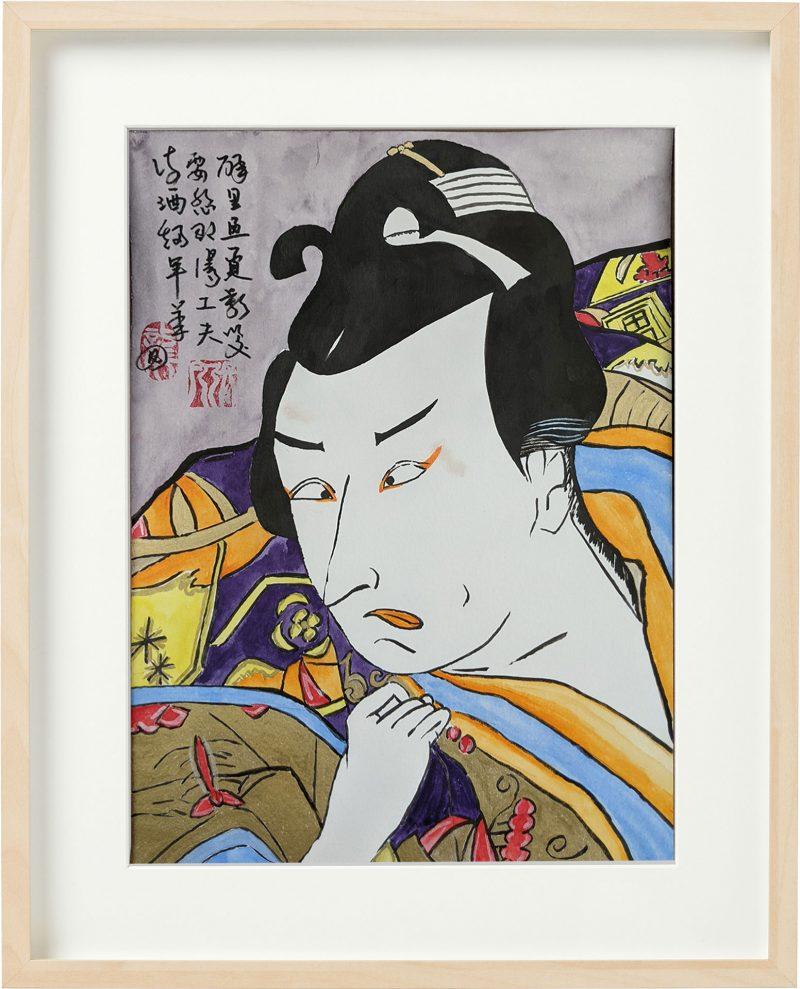 Ukiyo-e meets Chinese poetry