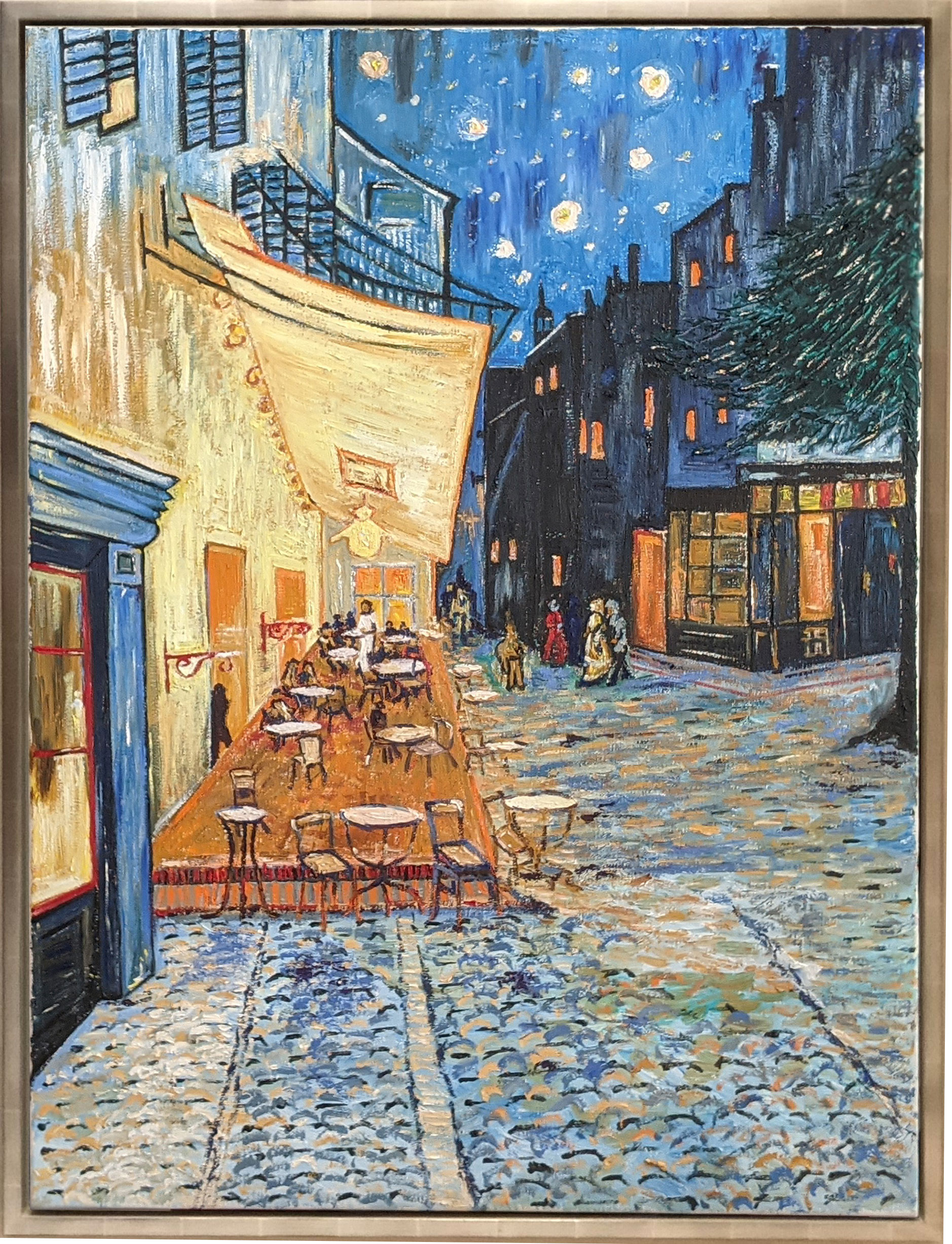 Café Terrace at Night reproduction by Fan Stanbrough
